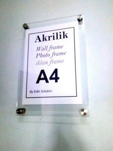 Frame A4 Akrilik /Bingkai Akrilik Poster Akrilik